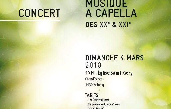 Concert de Printemps – Rebecq – 4 mars 2018