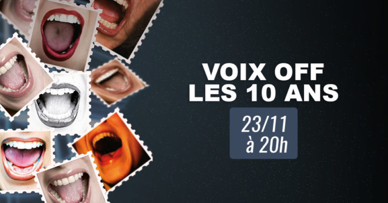 Festival Voix Off – Perwez on November the 23th